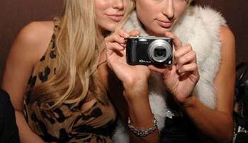 Aubrey O'Day and Paris Hilton at Opening of AXE Fix Club