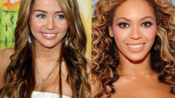 Miley Cyrus and Beyonce Knowles