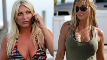 Photo of Brooke Hogan and Carmen Electra – 2 Headed Shark Movie Set