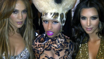 Photo of Jennifer Lopez, Nicki Minaj and Kim Kardashian