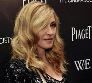Photo of Madonna at film W.E. screening