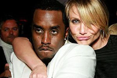 Photo of P. Diddy and Cameron Diaz hugged up