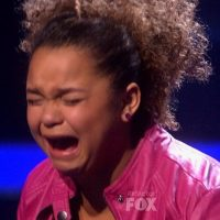 Rachel Crow crying on X Factor