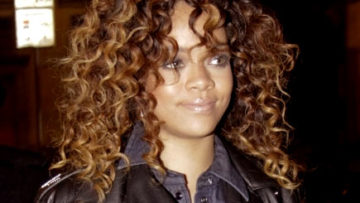 Photo of Rihanna sporting soft curls in Milan Italy