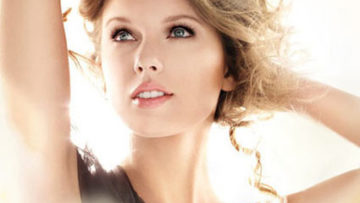 Photo of Taylor Swift for  Covergirl NaturalLuxce Mousse Mascara Ad Campaign