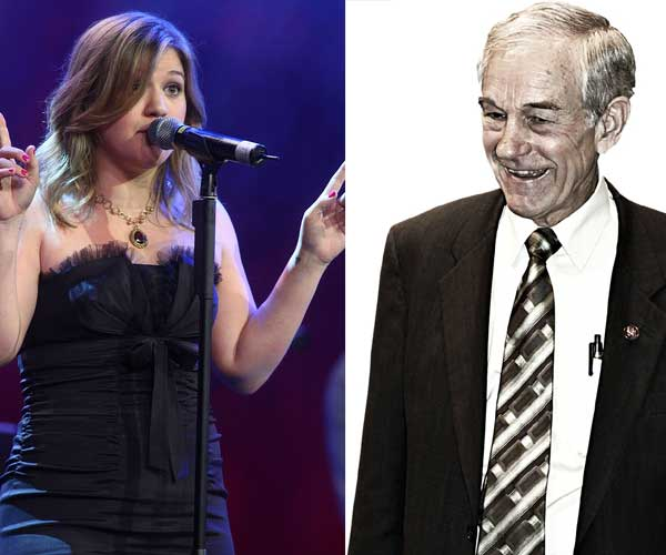 Photo of Kelly Clarkson and Ron Paul