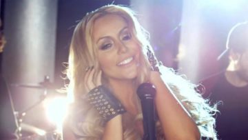 Photo – Aubrey O'Day music video Wrecking Ball