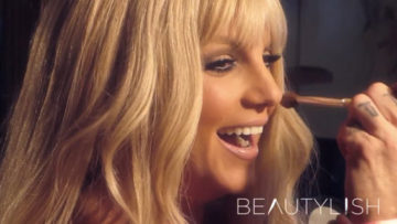 Photo – Britney Spears on the set for commercial Elizabeth Arden Fragrance