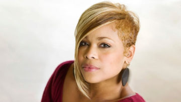 Photo of T-Boz of female music group TLC