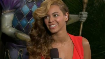 Beyonce after Super Bowl press conference