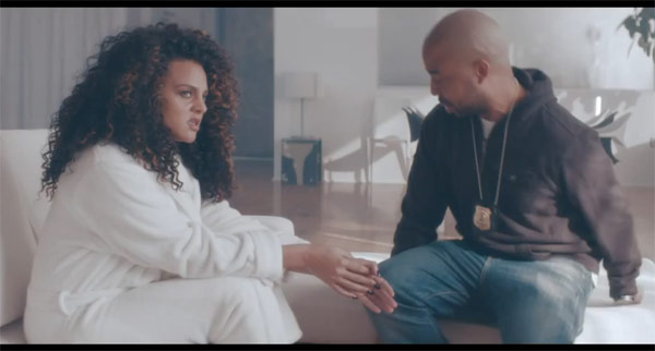 Marsha Ambrosius in the music video for the song Cold War