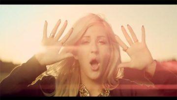 Singer Ellie Goulding in the music video Burn