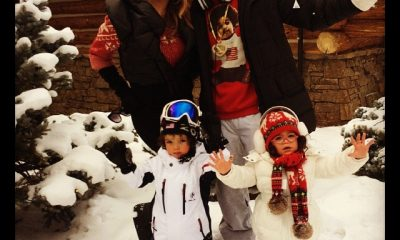 Mariah, Nick and the twins in Colorado for Christmas 2013