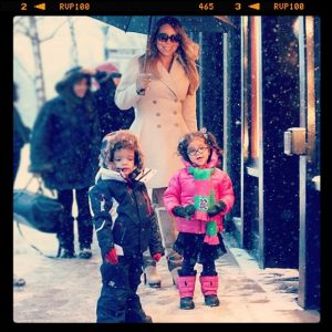 Mariah Nick and the twins in Colorado for Christmas 2013 - 3
