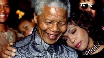 Whitney Houston and Nelson Mandela – 1994