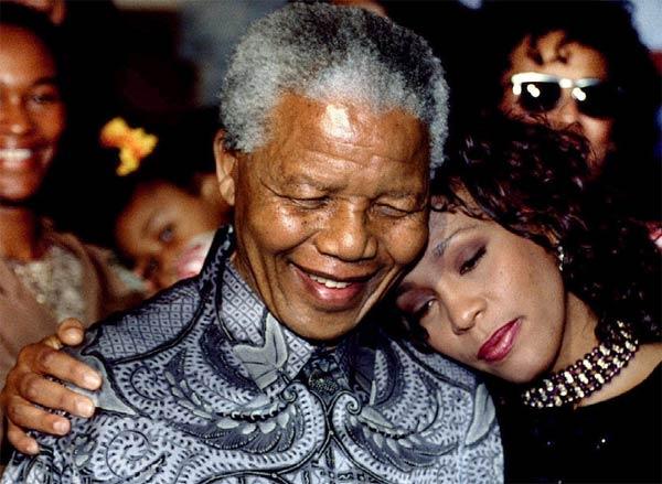 Whitney Houston and Nelson Mandela - 1994