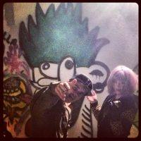 Kelly Osbourne and Justin Bieber graffiti art together