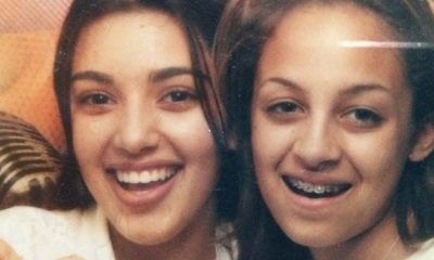 Kim Kardashian and Nicole Richie with braces - 13 yr-old