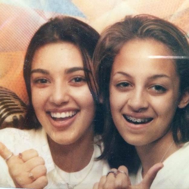 Kim Kardashian and Nicole Richie with braces - 13 yr-old
