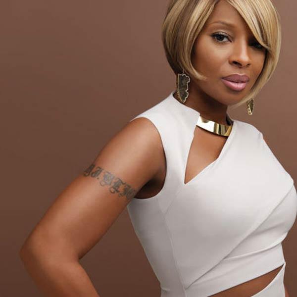 R&B singer Mary J Blige